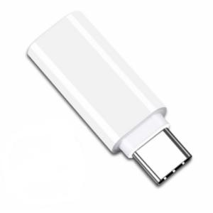 USB-C naar 3.5mm Jack Audio Adapter - Zwart/Wit