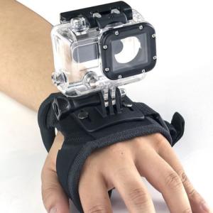 360 graden GoPro Handstrap Handgrip houder - Zwart