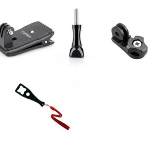 GoPro Clip Mount + Schroef + Bridge Adapter + Wrench - Zwart