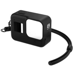 GoPro Hero 8 Siliconen Case beschermhoes + Lanyard - Zwart