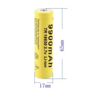 GTF 18650 Oplaadbare 3.7V Batterij 9900mAh - Set 2 Stuks