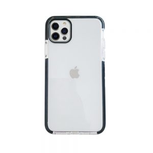 iPhone 12/12 Pro Back Cover Transparant met zwarte rand