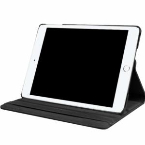 iPad 10.2'' (2019/2020) Luxe Lederen Full Cover Case - Zwart / Bruin