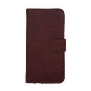 iPhone 12/12 Pro Luxe Book Case Zwart/Bruin/Donker Groen
