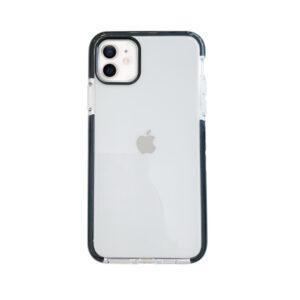 iPhone 12 Mini Back Cover Transparant met zwarte rand