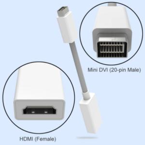 Mini DVI Mannelijk naar HDMI Vrouwelijk Adapter - 0.5 Meter