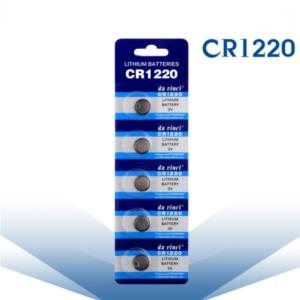 CR1220 3V Lithium Knoopcel Batterij - 5 Stuks