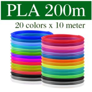 3D Pen Filament 20 Kleuren - 20 x 10 meter
