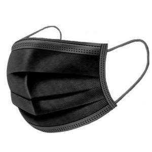 3 Laags Professioneel Mondkapje met oorlussen - Zwart - 50 Stuks
