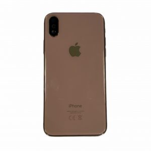 iPhone XS Back Frame Cover - Pulled - Goud